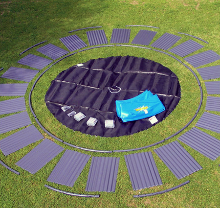 Blogs how to install your in ground trampoline ideas for How to put a trampoline in the ground